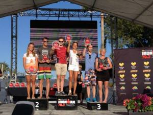 A dream comes true for Arne, performing on stage at an Ironman Race!