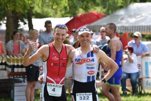 Hans and Sam after the race, happy about racing in a great setting!