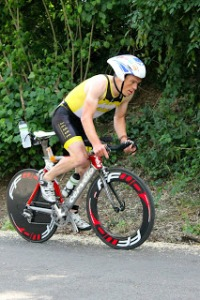 Tom on his collector's item Cervelo P2 last week ;-) This week, he was upgraded a bit with a rotor cranck