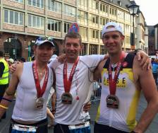 These 3guys became an Ironman last weekend! Sem, PJ and Nesten smiling after the race!