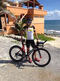 Brooke felt great in Cozumel, a well motivated pro athlete. Ready to race and enjoy the sportsmanship!
