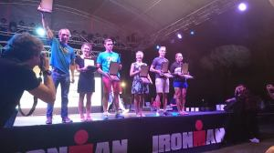 Raphael on the Ironmanpodium, every triathlete wants to get there!