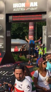 Peter is an Ironman after a perfectly paced race, eternal glory!