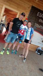 Cai and her fan Frederik Van Lierde