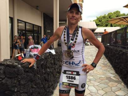 Pierre did a great race in Hawaii and topped off with a fast run!