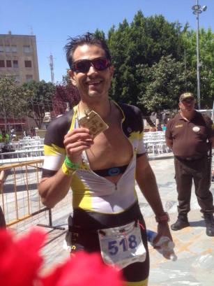 David after his race in Orihuela (Spain)