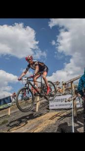 Wim with podium in the Flemish MTB cup